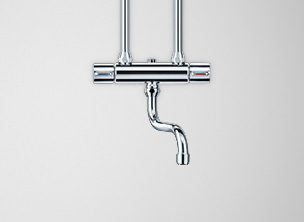 Taps for open vented small water heaters for oversink installation